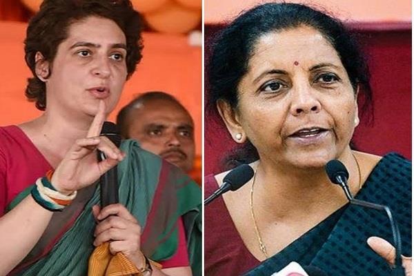 priyanka attack on sitharaman about economic slowdown