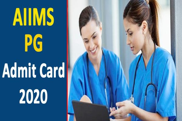 aiims pg admit card 2020 released