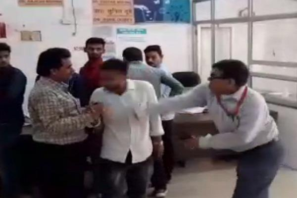 sultanpur cms slapped youth video went viral on social media