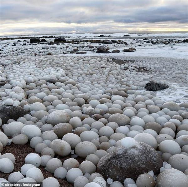 thousands of rare ice eggs found on beach in finland