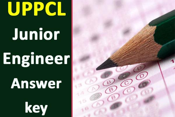 uppcl je answer key released for recruitment exam download