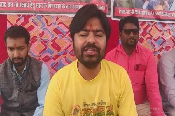 hunger strike fast unto death satyagraha union declare cow national animal