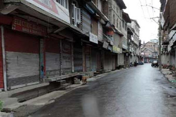 kashmir closed threatening posters shops closed third day
