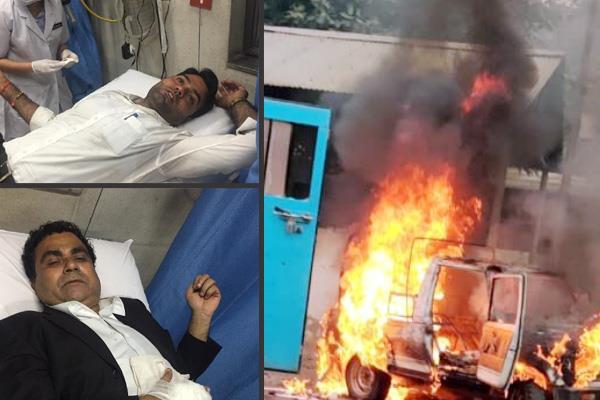 violent clashes in tis hazari court of delhi
