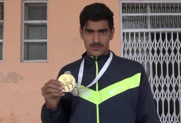 satyadev won gold in national junior athletics championship