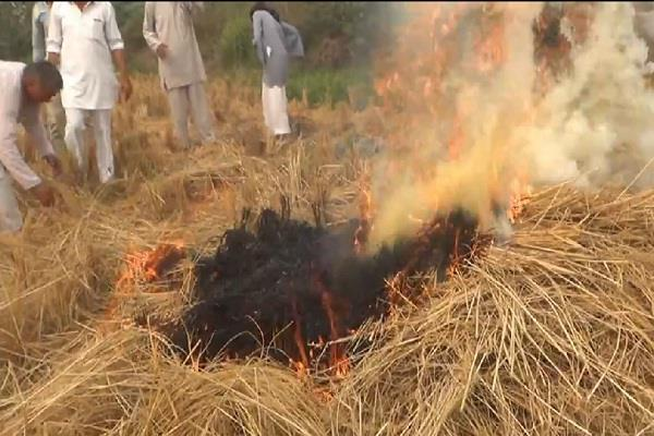 farmers were burning stubble at night officials immediately took action