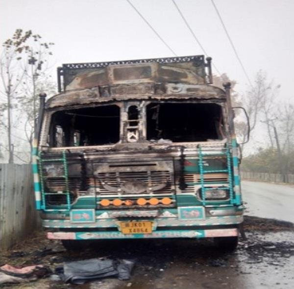 terrorists target truck in tral army starts search operation