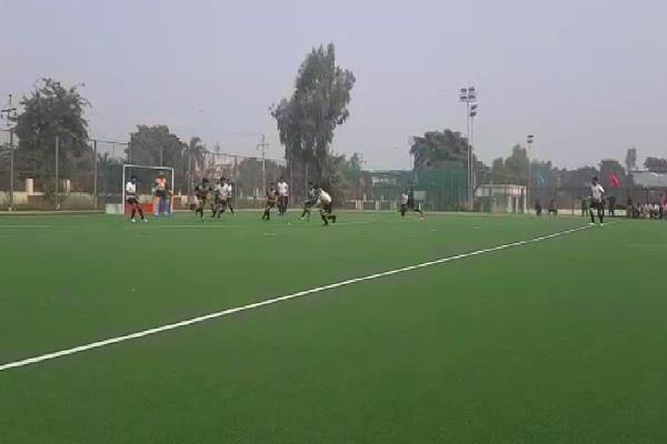 semifinal matches of 36th state level men s hockey competition concluded