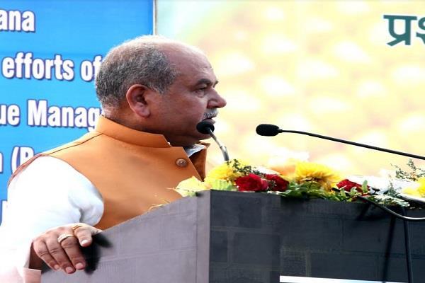 minister tomar foundation stone prabandhki block punjab khetibadi university