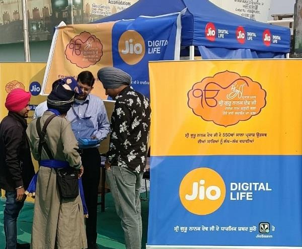 jio facilities to devotees in sultanpur lodhi