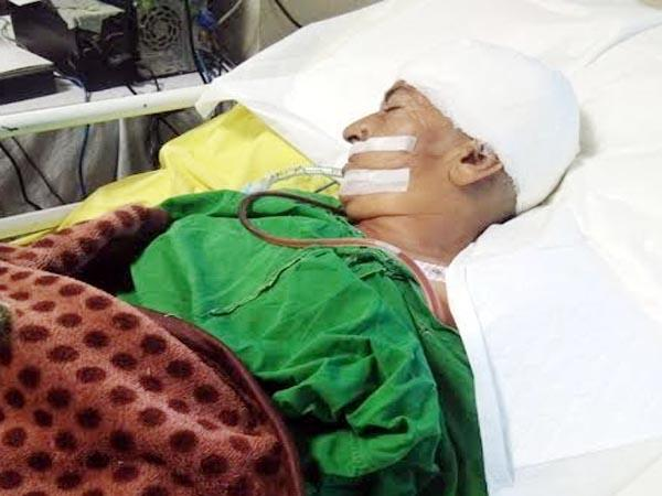 injured woman admit in pgi