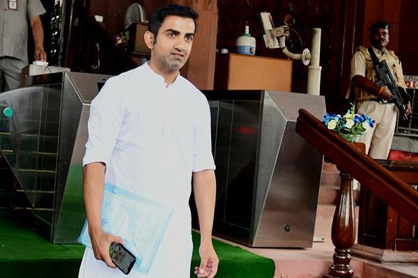 gautam gambhir spoke on pollution in parliament