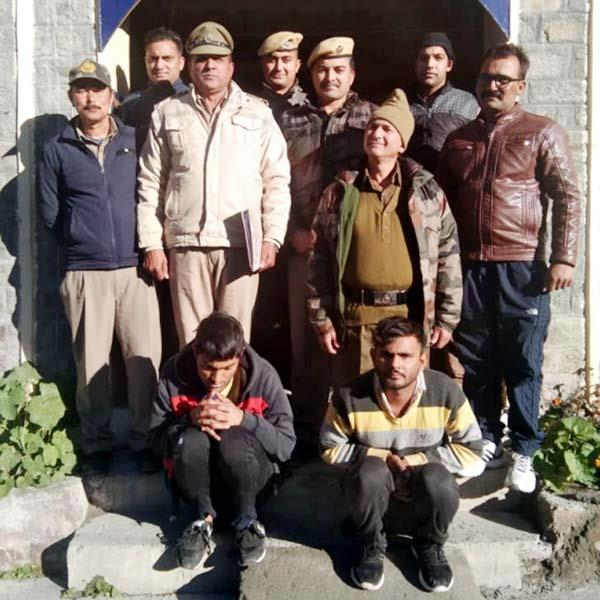 2 arrested with itbp soldier in theft attempt case