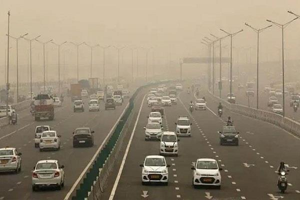 fog due to strong winds in delhi pollution reduced