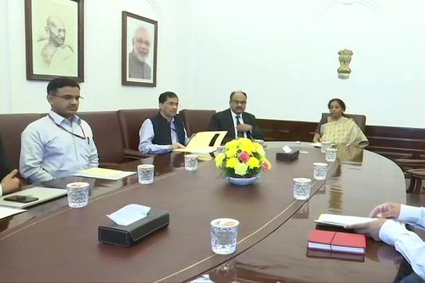 nirmala sitharaman holds meeting with officials discusses simplification of gst