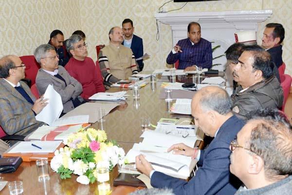 cm jairam thakur in review meeting