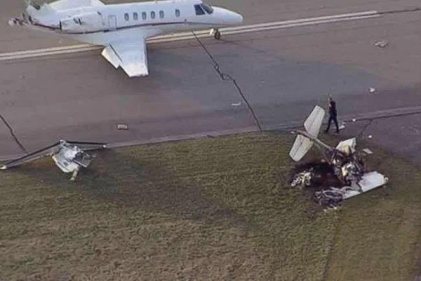 two planes crashed after landing at frankfurt airport no one injured