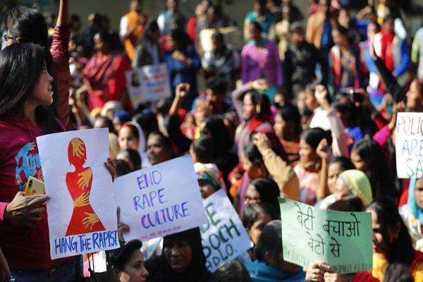 jantar mantar echoed with freedom from rapists slogans