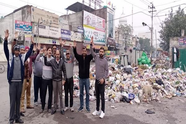 garbage from wards started to accumulate in dump