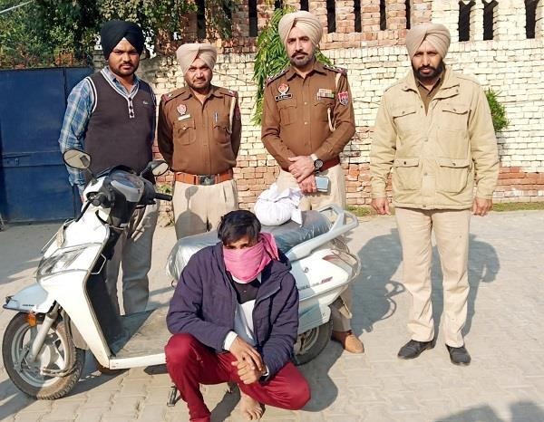scooty rider arested with drugs