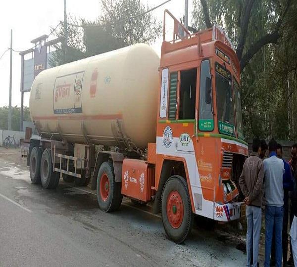 fire in indane gas tanker