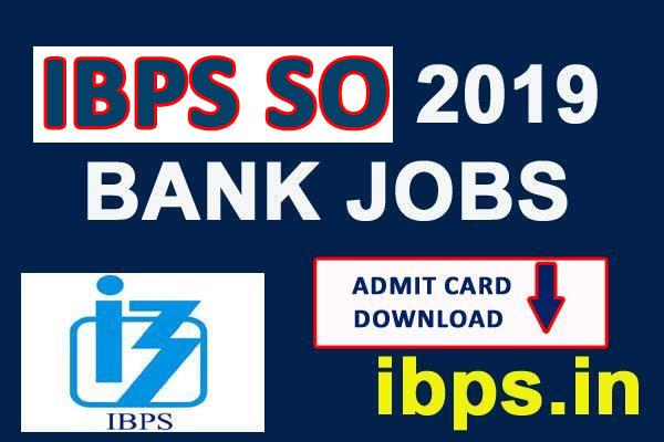 ibps so admit card 2019 released exam will start from 28 december
