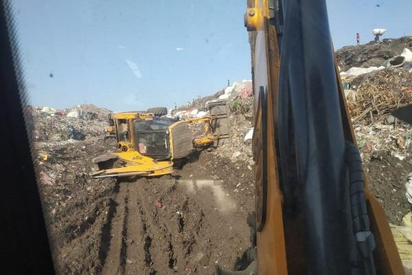 ditch overturns at variana dump