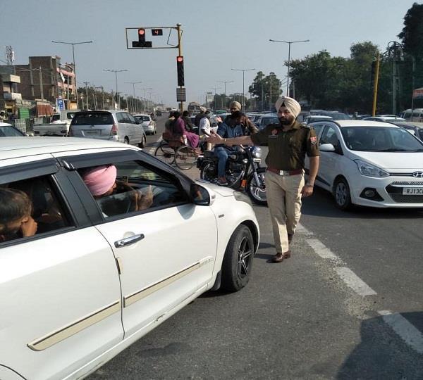traffic in bathinda