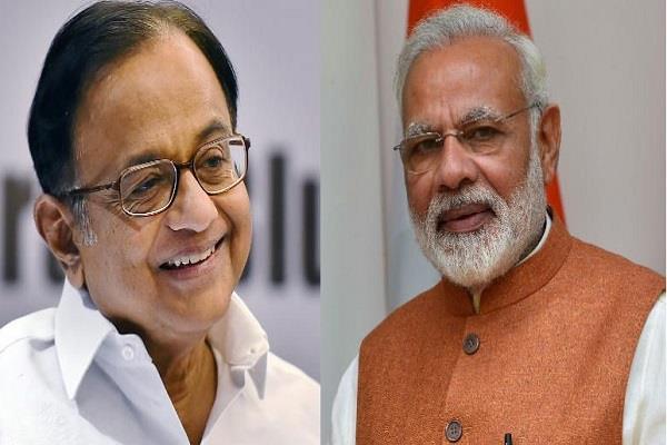 chidambaram says god save india economy