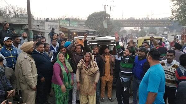 protest against police