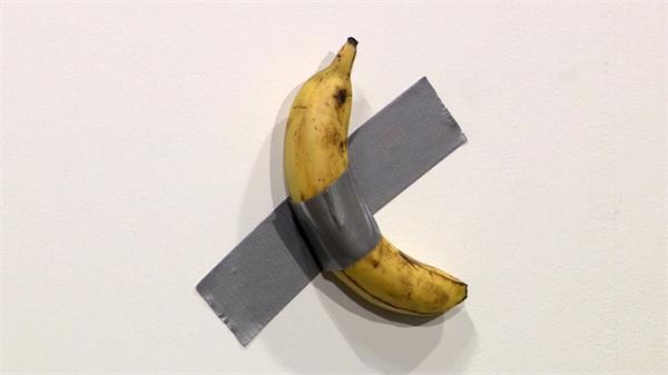 banana taped to a wall is selling for rs 85 lakh