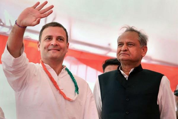 gehlot says rahul gandhi is the only option for modi