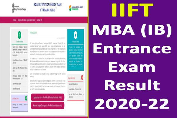 iift mba ib 2020 22 exam result will be released today