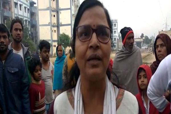 administration raids kanshi ram colony warning 30 people living illegally