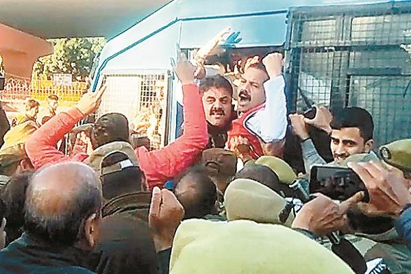 jammu band failed police arrested panthers leaders