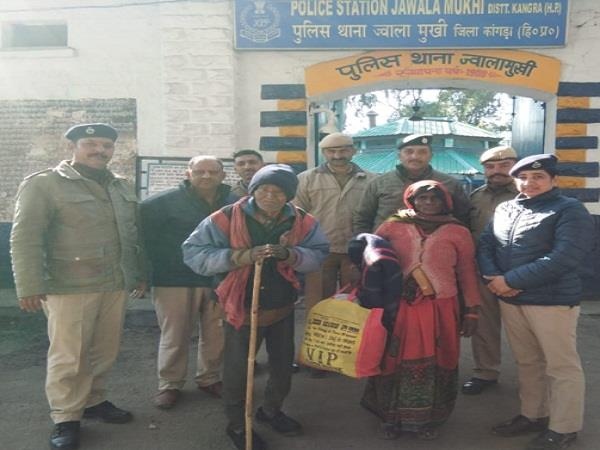 jwalaji police became angel for 75 year old elderly