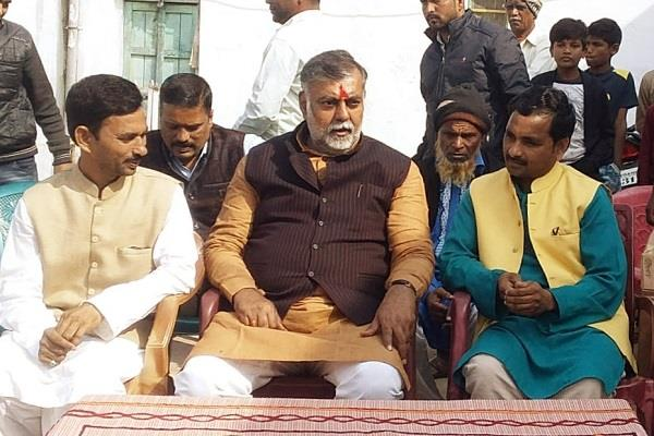 union minister arrives to damoh in nayyar damohi  house