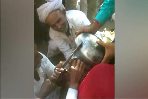 rajasthan 3 year old child head gets stuck in utensil