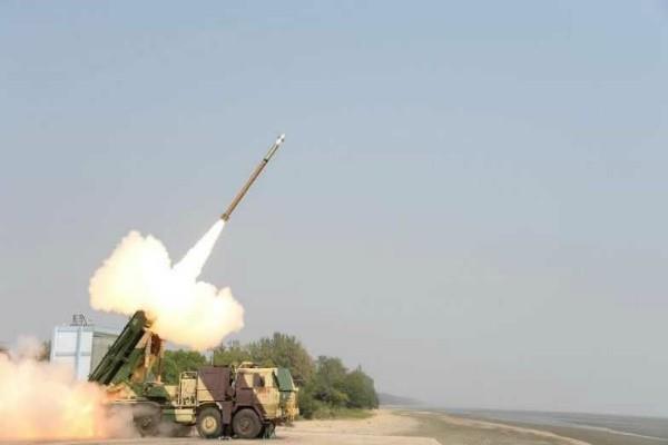 successfully testing pinak guided rocket in odisha