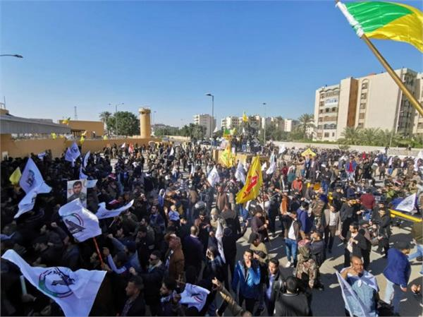iraq protesters storm us embassy in baghdad