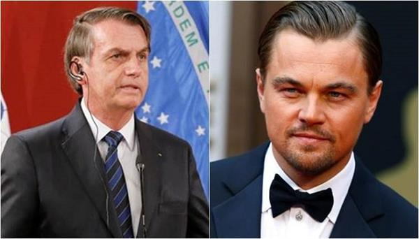 brazil s president claims dicaprio paid for amazon fires