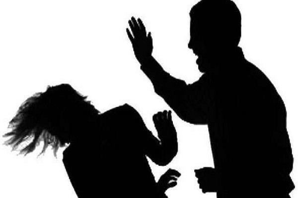 drunken husband beat his wife fiercely