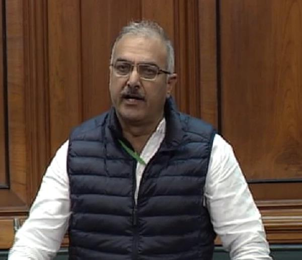 mp sanjay raised the issue of collecting toll tax on nh 1 in the house