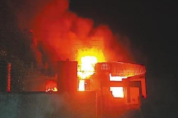 daal mill caught fire by short circuit burning property