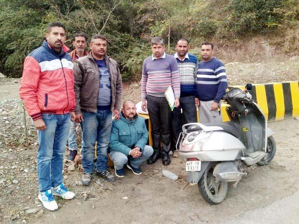 scooty rider arrested with intoxicant capsule