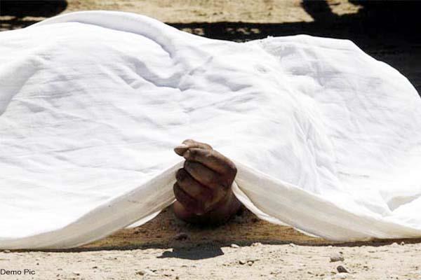 una road dead body recovered