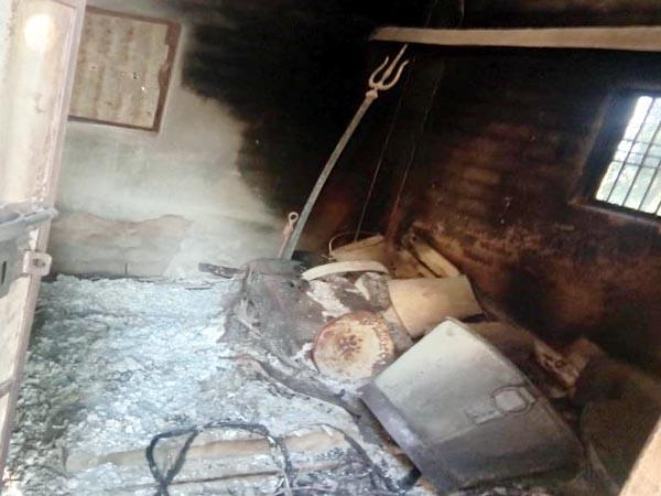 naughty elements burned the hut of baba