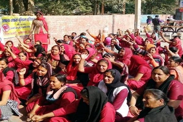 asha workers postponed protest