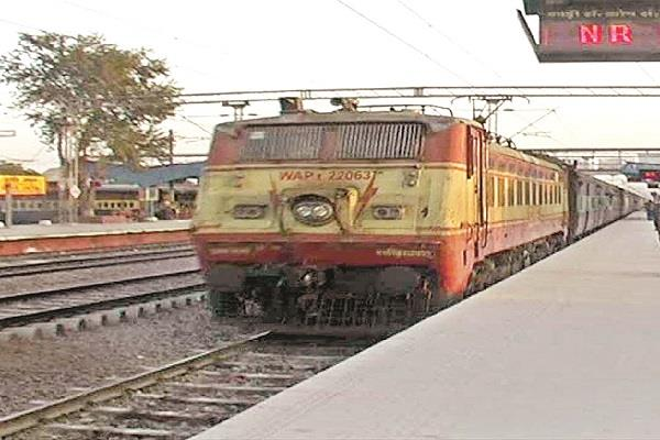 complete work of electrification from kurukshetra to jind till rail line