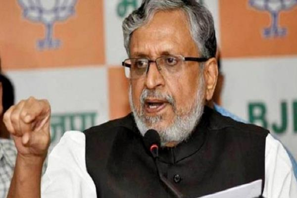statement of sushil modi on alliance of sp bsp